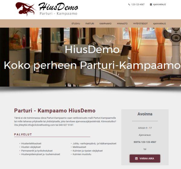 Nettisivut ajanvarauksella